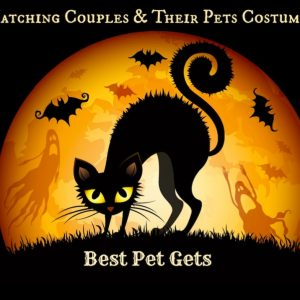 Matching Couples and Their Dog Costumes