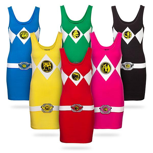 Teen Costumes Power Ranger Tunic Tanks
