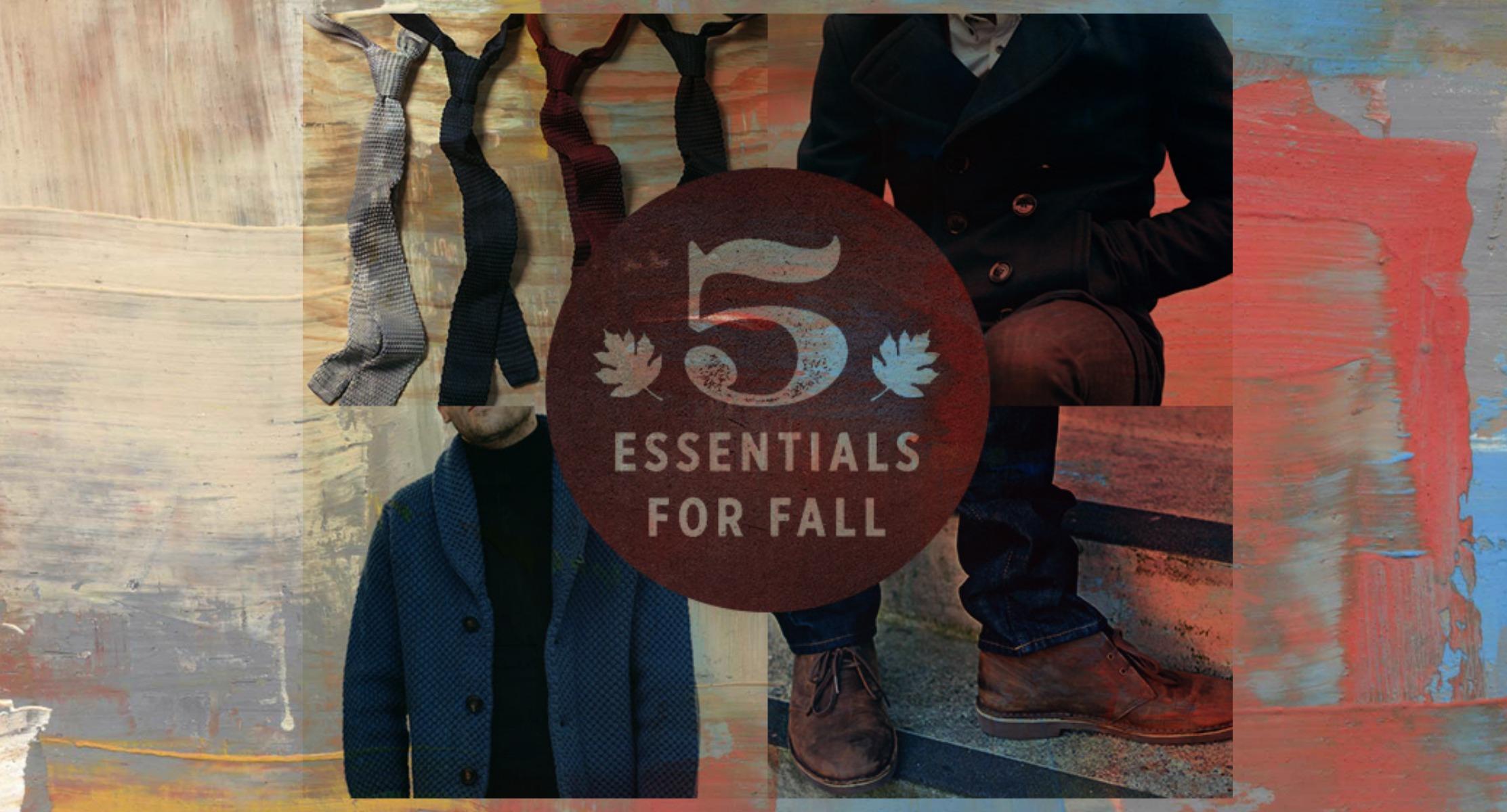5 Men Fall Fashion Essentials