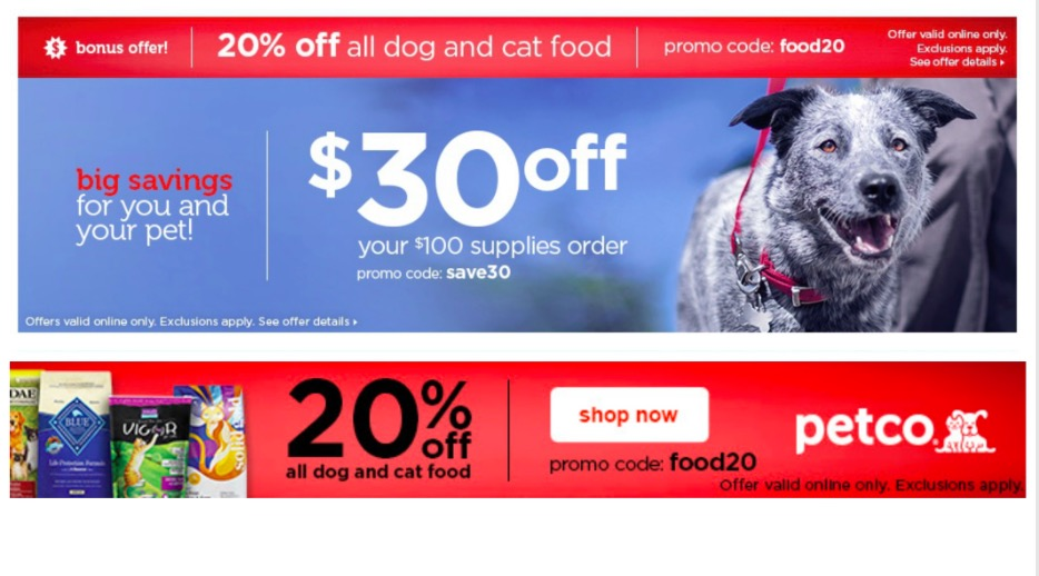 Petco dog and cat food sale